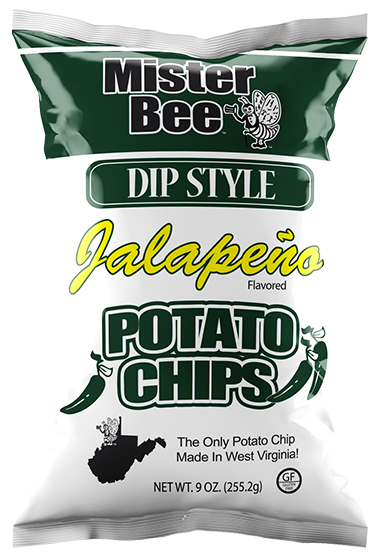 Dip style jalapeno chips bag