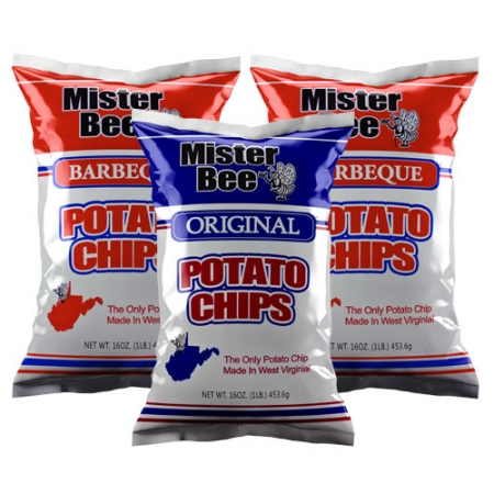 16 ounce 1 quantity original chips, 16 ounce 2 quantity barbeque chips