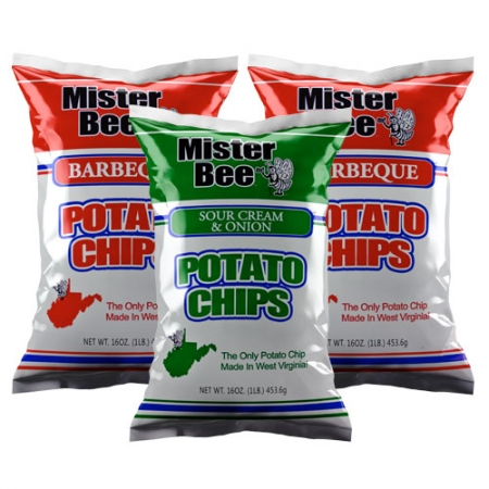 16 ounce 1 quantity source cream and onion chips, 16 ounce 2 quantity barbeque chips