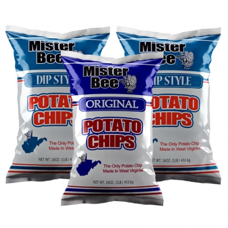 Original and dip style potato chips