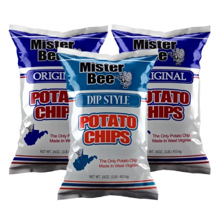 16 ounce 2 quantity original chips, 16 ounce 1 quantity dip style chips