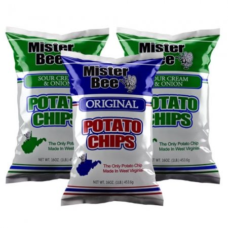 16 ounce 2 quantity sour cream and onion chips, 16 ounce 1 quantity original chips