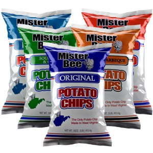 16 ounce bags 1 original, 1 sour cream and onion 1 honey barbeque, 1 barbeque, 1 dip style