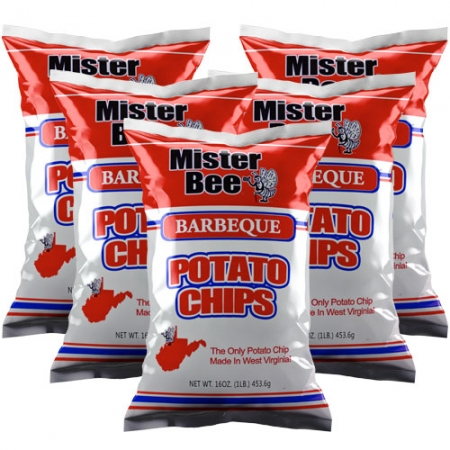 16 ounce 5 quantity barbeque chips