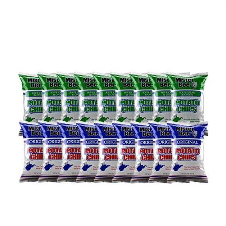 Twenty ounce 9 quantity source cream and onion chips, 20 ounce 9 quantity original potato chips