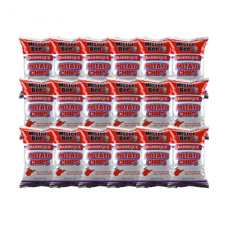Barbeque chips: 18 bags