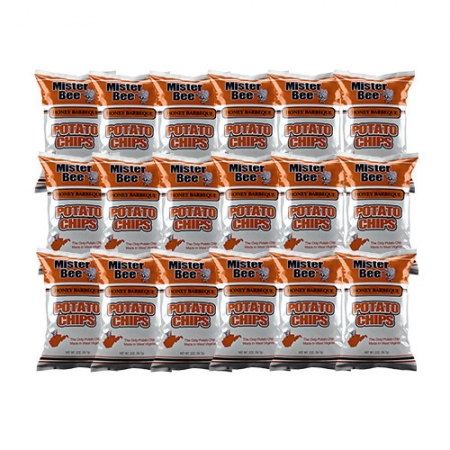 Two ounce honey barbeque chips: 18 bags