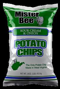 Mister Bee sour cream & onion potato chips