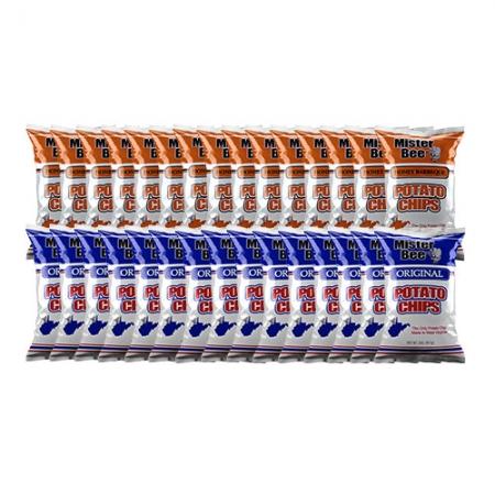 2 ounce 15 quantity honey barbeque, 2 ounce 15 quantity original chips