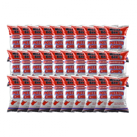 Mister Bee barbeque potato chips: 30 bags