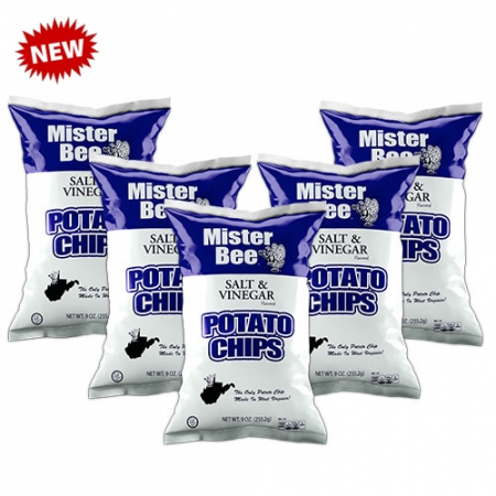 Mister Bee salt & vinegar potato chips: 5 bags