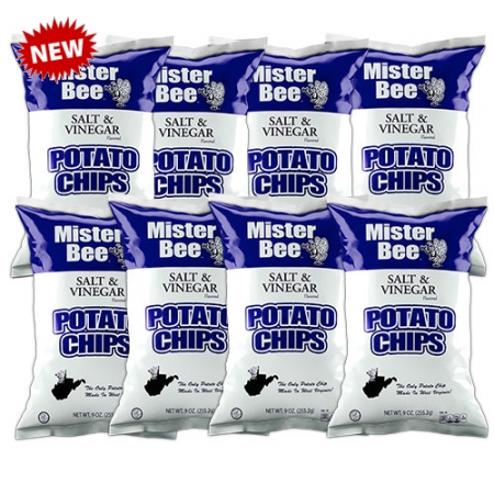 Mister Bee salt & vinegar potato chips: 8 bags