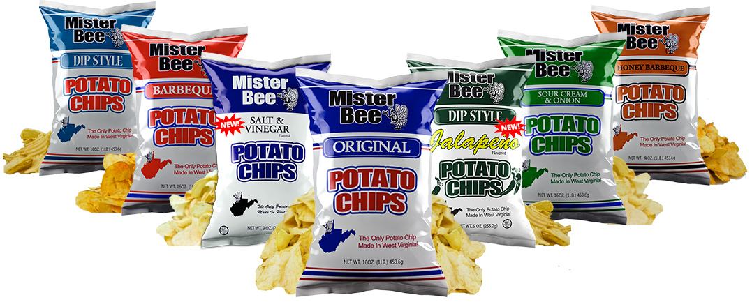 Mister Bee potato chips flavors