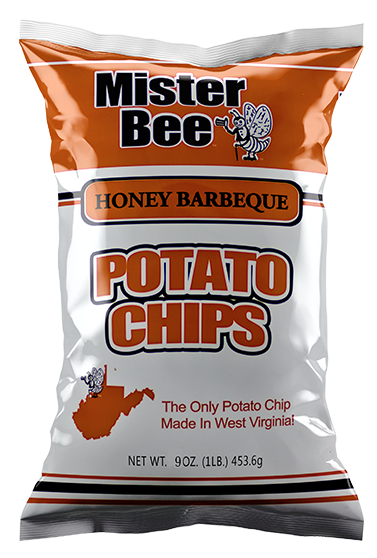 Mister Bee honey barbeque potato chips bag