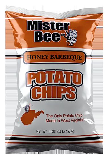 Mister Bee honey barbeque potato chips bag