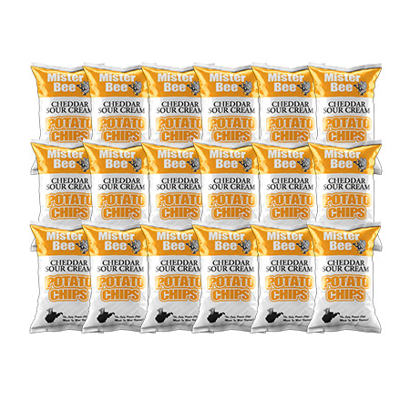 Cheddar sour cream potato chips: 18 bags
