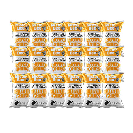 Mister Bee cheddar sour cream potato chips: 18 bags