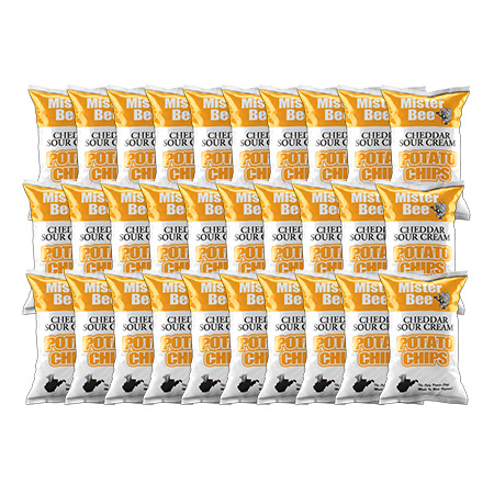 Mister Bee cheddar sour cream potato chips: 30 bags