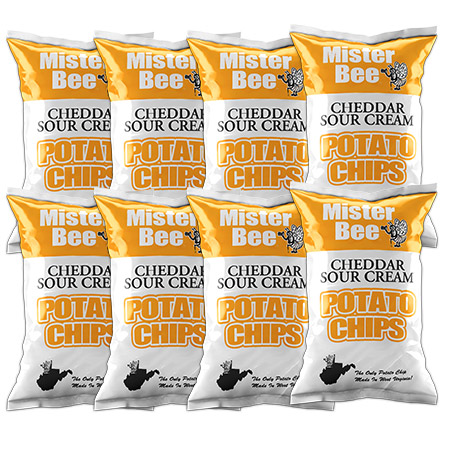Mister Bee cheddar sour cream potato chips: 8 bags