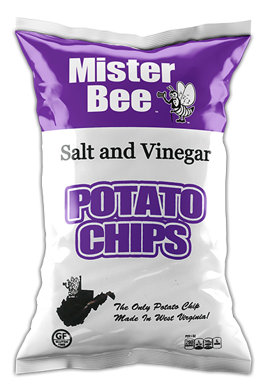 Mister Bee salt and vinegar potato chips bag