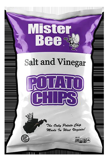 Mister Bee salt and vinegar potato chips bag
