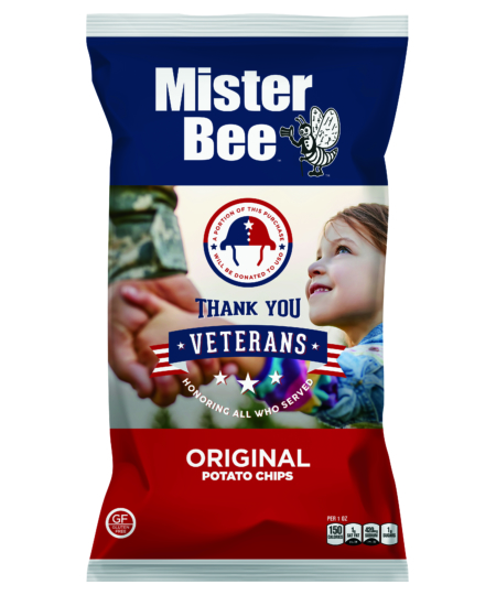 """Mister Bee """"Salute Our Veterans"""" Chips"""