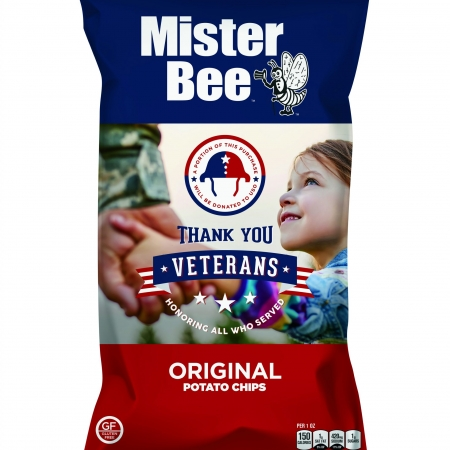 "Mister Bee ""Thank You Veterans"" original potato chips"