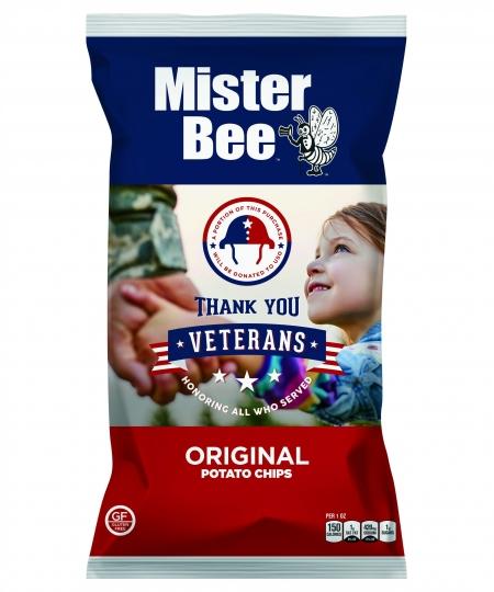 "Mister Bee ""Thank You Veterans"" original potato chips"