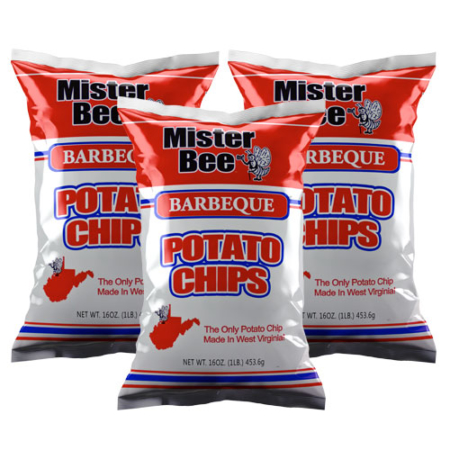 Mister Bee barbeque potato chips: 3 bags