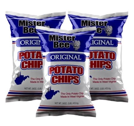 Mister Bee original potato chips: 3 bags